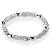 M&S Collection Silver Plated Bobble Bead Bracelet