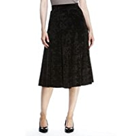 M&S Collection Panelled Velour Long Skirt