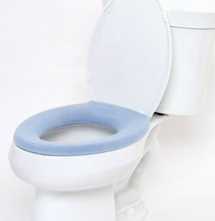 Comfy Covers Germ Resistant Toilet Seat Cover (Light Blue)