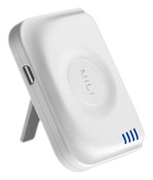 MiLi Power Angel Portable External High Capacity Battery with Stand for iPhone / iPods - White