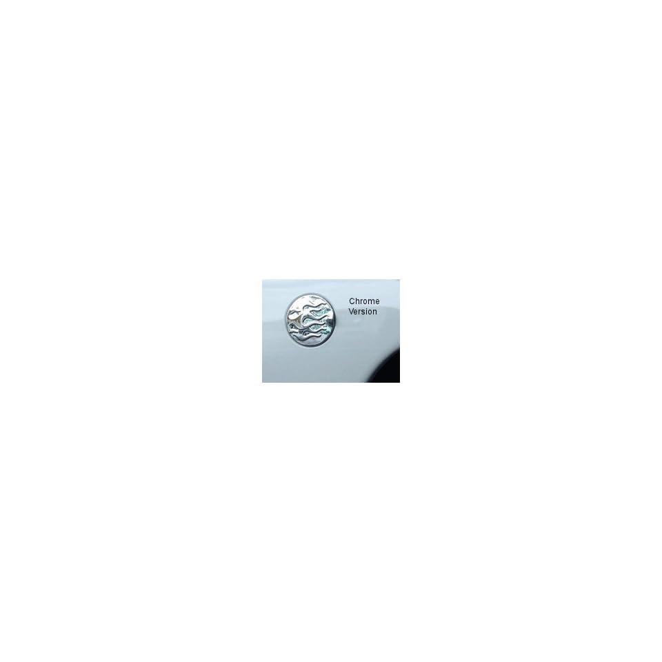 V Tech 77950 1999 06 Chevy Silverado/GMC Sierra Fuel door Cover Flames Black