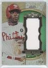 Jimmy Rollins #11/18 (Baseball Card) 2013 Topps Triple Threads - Unity Jumbo Relics - Emerald #TTUJR-JRO2