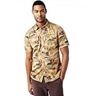 North Coast Pure Cotton Palm Tree Print Shirt
