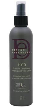 Design Essentails Hco Leave In Conditioner 8 Oz
