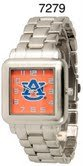 NCAA Officially Licensed Auburn Tigers Mens Metal Square-faced Wristband Watch by Time World