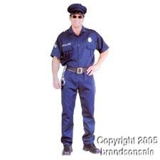 Men's Police Cop Halloween Costume (Sz: XL 44-46)
