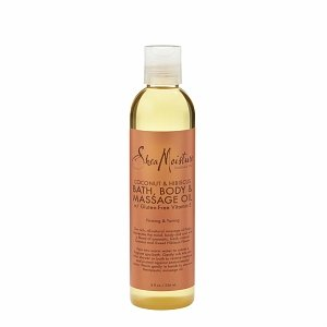 Shea Moisture Coconut & Hibiscus Bath Body & Massage Oil 8oz (764302290063)