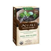Numi Tea Pu-erh Tea Basil Mint, Basil Mint 16 bags (Pack of 3)