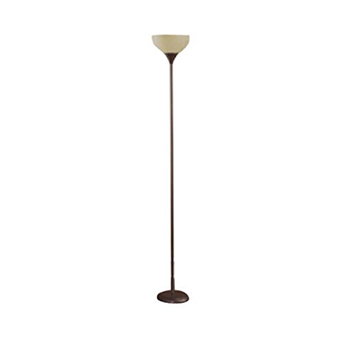 Mainstays floor lamp brown 71quot tall home garden lighting for Mainstays floor lamp with reading light brown