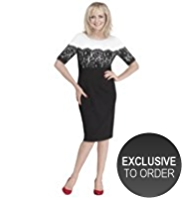 Twiggy for M&S Collection Floral Lace Panelled Dress