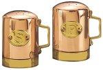 "Old Dutch International 4½"" H. Décor Copper Stovetop Salt & Pepper Set"