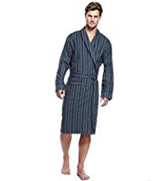 North Coast Pure Cotton Lightweight Striped Dressing Gown