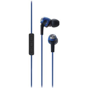 ( earphone ) Audio Technica ATH-CK323IBL Mobile Phone headphones with Microphone, Blue [parallel import goods]