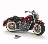Black & Red Motorcycle Shaped Piggy Bank home decor - 1