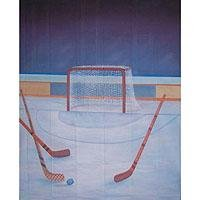 Adorama Belle Drape Scenic Series, 10' x 12' Painted Muslin Background, Style #955, Color: Hockey