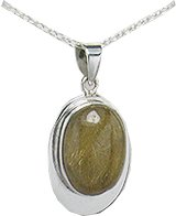 Sterling Silver Rutilated Quartz Gemstone Pendant - 925 Silver Jewelry By Gems Couture