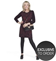 Twiggy for M&S Collection Jacquard Print Knitted Tunic Dress with Angora