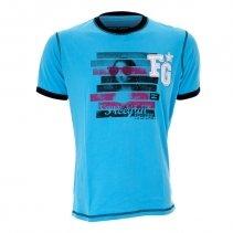 Freegun - T-shirt homme modèle TD Bleu taille XXL