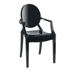 Kartell Louis Ghost Armchair Black