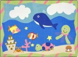 "Joy Carpets Kid Essentials Infants & Toddlers Sea Babies Rug, Multicolored, 3'10"" x 5'4"""