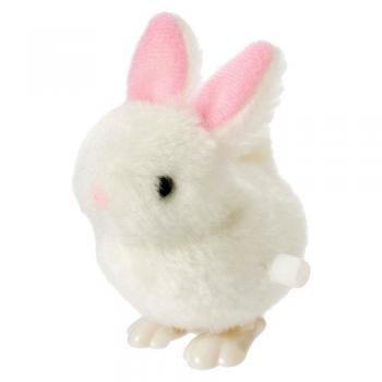 Toysmith Fuzzy Bunny Wind Up Toy