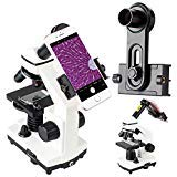2019 New Version Microscope Lens Adapter, Microscope Smartphone Camera Adaptor - for Microscope Eyepiece Tube 23.2mm, Built-in WF 16mm Eyepiece - Capture and Record The Beauty in The Micro World (Color: Microscope Smartphone Adapter(New model))