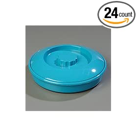 "Carlisle 047015 Polycarbonate Tortilla Server with Lid, 7-1/4"" Diameter x 1-15/16"" Height, Turquoise (Case of 24)"