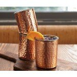 Coqueta Hammered Copper Cups, Set of Four