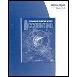 Accounting Working Papers Chapters 12-25 (0324203764) by Warren, Carl S.
