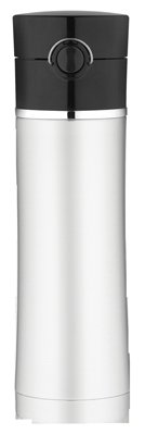 Thermos Ns402Bk4 Sipp? Insulated Water Bottle, Stainless Steel With Black Lid 16-Oz. - Quantity 1 front-857538
