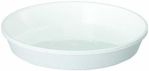大和プラスチック 鉢皿サルーン 2号 φ90×H18 ホワイト