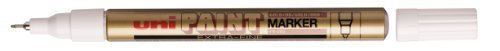 uni Paint Marker Bullet Tip Needlepoint PX203 Line Width 0.8mm Gold Ref 9001990 [Pack 12] image