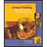 Critical Thinking- Learn the Tools the Best Thinkers Use,Concise Edition by Paul,Richard; Elder,Linda. [2005] Paperback (0131149636) by Paul, Richard