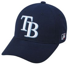 MLB YOUTH Tampa Bay RAYS Home Navy Blue Hat Cap Adjustable Velcro TWILL