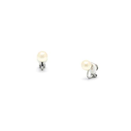 Rodney Holman Faux Pearl Clip On Earrings - 8mm