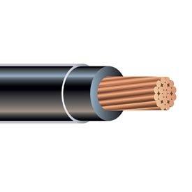 1000' 8 Gauge Black Thhn Thwn-2 Copper Wire Conductor Heat Moisture Gasoline Resistant