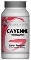 Cayenne - Herbal Cayenne For Circulation - 100 Capsules