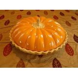 Deep Dish Ceramic Covered Pumpkin Pie Plate (Pumpkin Pie Dish compare prices)