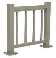 CRL Beige Gray 100 Series Aluminum Picket Railing System Small Showroom Display- No Base by CR Laurence