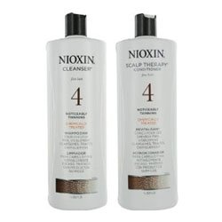 Nioxin System 4 Cleanser and Scalp Therapy Liter Set (33 oz)