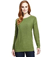 M&S Collection Pure Lambswool Reverse Knit Jumper