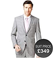 Savile Row Inspired Pure Wool 2 Button Prince of Wales Checked Jacket