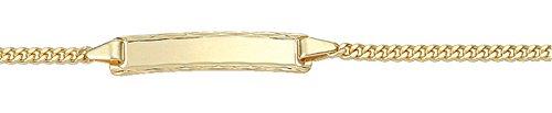 Damen Schmuck Gold Identitätsarmband Flachpanzer / Panzerkette aus 585 Gelb Gold ( 14 cm ) ( 2,1 mm ) online kaufen