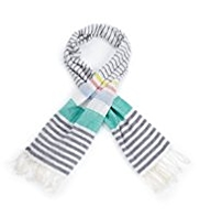 Pure Cotton Striped Scarf