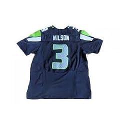 Buy Russell Wilson Seattle Seahawks #3 Blue YOUTH Jersey Size Medium by LEAGUE GEAR