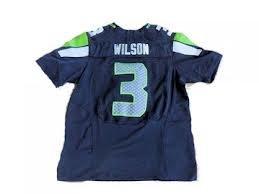 Russell Wilson Seattle Seahawks #3 Blue YOUTH Jersey Size Medium by LEAGUE GEAR