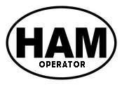 Ham Radio Operator Oval Decal (Ham Radio Decal compare prices)