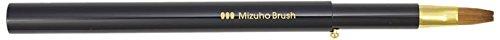 熊野筆 Mizuho Brush スライド式リップブラシ平 黒