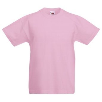 Fruit of the Loom Boys 3-Pack Classic T-Shirt - Light Pink - Age 3/4