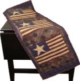 Old Glory Patriotic Table Runner Quilt 50 Inches Long by 17 Inches Wide 100% Cotton Handmade Hand Quilted Heirloom Quality